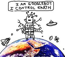 Googlebot illustration by Paul Ford
