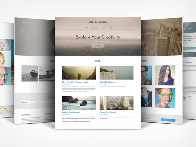 explore your creativity 95% off a lifetime subscription to Theme.Works WordPress Builder